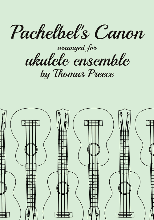 Book cover: Pachelbel's Canon for Ukulele Ensemble